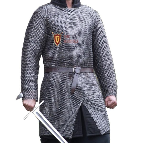 MEDIEVAL ARMOUR CHAINMAIL SHIRT LARGE 10 MM FLAT RIVETED ...
